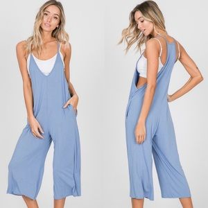 V-Neck Solid Jumpsuit with Pockets